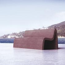 Panca pubblica / design originale / in materiale composito / con schienale