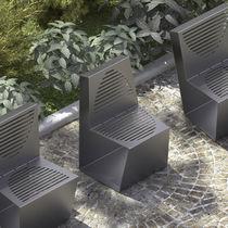 Sedia moderna / in legno / in acciaio galvanizzato / professionale