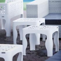Tavolo d'appoggio moderno / in acciaio galvanizzato / quadrato / da esterno