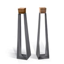 Rastrelliera per biciclette in acciaio galvanizzato / in legno / design originale / per spazi pubblici