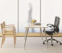 Tavolo da lavoro moderno / in MDF / impiallacciato in legno / in laminato