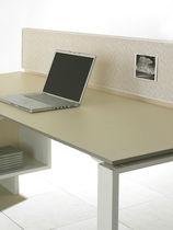 Divisorio per ufficio da bancone / in vetro / in legno
