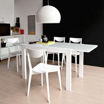 Tavolo moderno / in legno laccato / rettangolare / allungabile