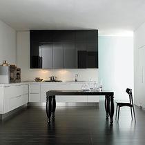 Tavolo in stile / in legno laccato / rettangolare / allungabile