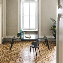 Tavolo moderno / in legno massiccio / in vetro / in metallo