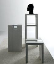 Tavolo d'appoggio moderno / in legno / in vetro / rettangolare
