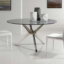 Tavolo moderno / in vetro / in acciaio / in legno laccato