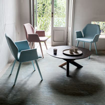 Tavolino basso moderno / in legno / in vetro / in vetro temprato