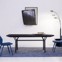 Tavolo moderno / in acciaio / in quercia / in legno massiccio