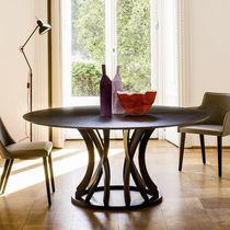 Tavolo moderno / in vetro / in quercia / rotondo