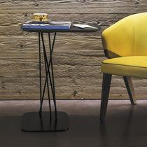 Tavolo d'appoggio moderno / in metallo / in quercia / rettangolare
