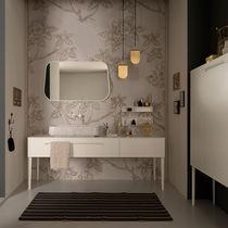 Mobile lavabo da appoggio / in metallo / classico / con specchio