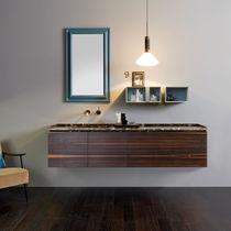 Mobile lavabo sospeso / in ebano / in marmo / moderno