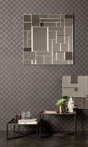 Specchio da bagno a muro / con ripiano / moderno / quadrato