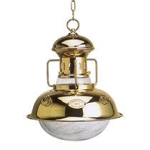 Lampada a sospensione / classica / in ottone / in vetro