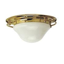 Plafoniera classica / rotonda / in vetro / in metallo