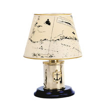 Lampada da tavolo / classica / in metallo / in tessuto