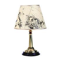 Lampada da tavolo / classica / in ottone / in tessuto