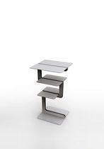 Portariviste moderno / per uso residenziale / in alluminio / in legno
