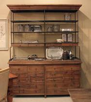 Credenza con alzata classica / in legno