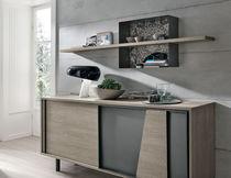 Scaffale a muro / moderno / in metallo verniciato / in laminato