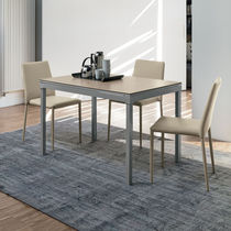 Tavolo da pranzo moderno / in gres porcellanato / in metallo verniciato / in MDF