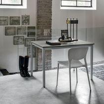 Tavolo moderno / in metallo verniciato / in laminato / rettangolare