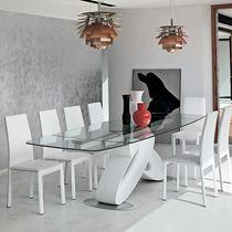 Tavolo da pranzo moderno / in poliuretano / in vetro temprato / rettangolare