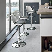 Sedia alta moderna / in polipropilene / in acciaio cromato / ad altezza regolabile