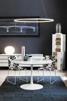 Tavolo da pranzo moderno / in vetro / in vetro temprato / rotondo