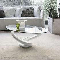 Tavolino basso / moderno / in vetro / in vetro temprato