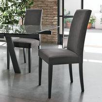 Sedia moderna / in tessuto / con schienale alto