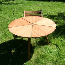 Tavolo da pranzo / moderno / in bambù / rotondo