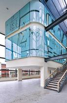 Pannello in vetro temprato / per interni / trasparente