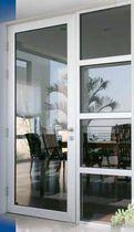 Porta d'ingresso / battente / in vetro / di sicurezza
