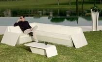 Tavolino basso moderno / in polietilene / rettangolare / da giardino