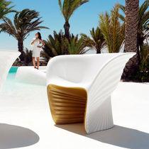 Poltrona design organico / in polietilene rotostampato / di Ross Lovegrove / da giardino