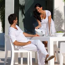 Sedia da giardino moderna / 100% riciclabile / in polietilene