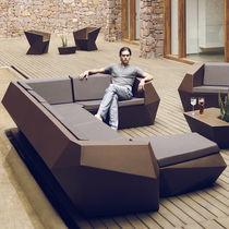 Divano d'angolo / modulare / design originale / da giardino
