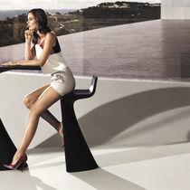 Sedia alta moderna / 100% riciclabile / in polietilene / da esterno