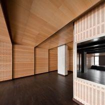 Pannello acustico a muro / per interni / in legno / decorativo