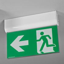 Illuminazione di emergenza ad incasso / sporgente / rettangolare / LED