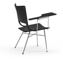 Sedia moderna / con tavoletta / in compensato / professionale