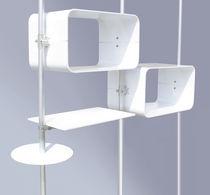 Espositore da parete / per prodotti di bellezza / in alluminio / per parrucchiere