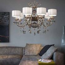 Lampadario in stile / in vetro soffiato / in ottone / in ferro