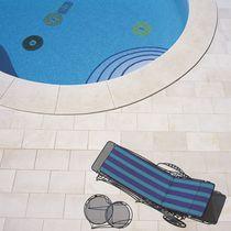 Piastrella per bagnasciuga di piscina / da pavimento / in gres porcellanato / in pietra calcarea