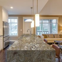 Piano di lavoro in granito / da cucina / antimacchia / antibatterico