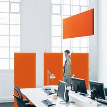 Pannello acustico per soffitto / in tessuto / colorato / per edifici pubblici