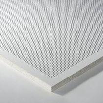 Controsoffitto in lana minerale / in metallo / a quadrotte / acustico