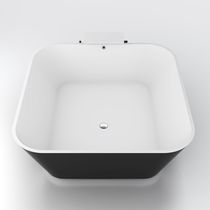 vasca da bagno da appoggio quadrata in solid surface